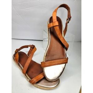 💥MIA - Brown and Gold Sandals